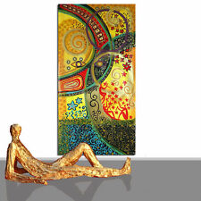 PAINTING LARGE ABSTRACT ART NEW XXL ORIENTAL GOLD RED ORIGINAL WORK STUDIO FRAME