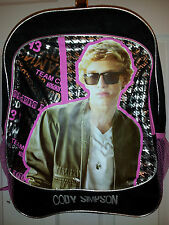 Cody Simpson Black/Pink/Silver Girl's Backpack