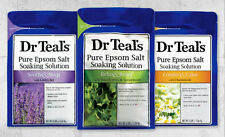 Dr Teal's Pure Epsom Salt Soaking Solution - Relax & Relief with Eucalyptus & Sp