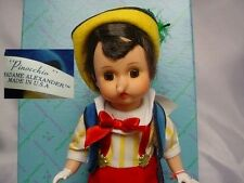 """Madame Alexander Doll 8"""" PINOCCHIO 477 New IN Box NRFB with Tag & Accessories"""