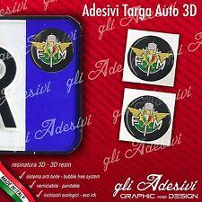 2 Adesivi Stickers bollino 3D Resinato targa Auto Moto FMI Federazione