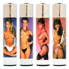 4 Different Clipper Lighters - Flint Large - Topless Girls (0003)