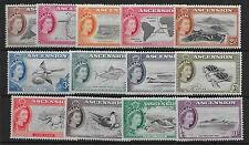 ASCENSION SG57/69 1956 DEFINITIVE SET MNH