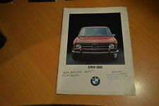 CATALOGUE BMW 1800 de 1970