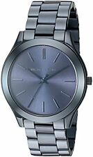 Michael Kors Slim Runway Blue Dial Blue Ion-plated Ladies Watch MK3419
