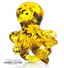 Mexican Amber Octopus Carving Super Quality Collectible Item -RRP£995!!!- OT5223