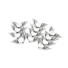50pcs Heart Angels Wings Tibetan Silver Loose Spacers Beads Jewelrys DIY Finding