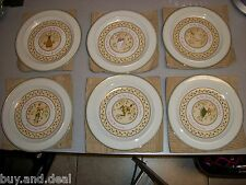 LOT OF 6 ANCHOR HOCKING TWELVE DAYS OF CHRISTMAS DINNER PLATES SIXTH - ELEVENTH