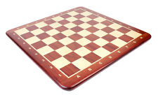 """24"""" Wooden Chess Board Bud Rosewood - Inlaid Notation - Square Size 2.5"""""""
