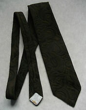 BURTON LONDON DARK TEXTURED BROWN VINTAGE WIDE TIE RETRO 1970'S 1980'S MOD