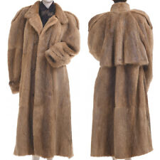 LKNW! Large! Magnificent World's Finest Genuine Beaver Fur Men's Trench Coat