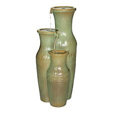 SS11352 - Ceramic Grecian Jars Garden Fountain w/Pump!