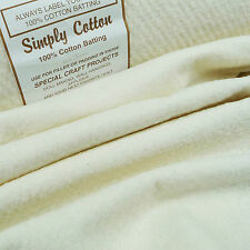 """Simply Cotton 100% Wadding 44"""" / batting quilting patchwork traditional antique"""