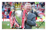 Sir Alex Ferguson Signed Autograph Photo Print Manchester United Fergie Man Utd