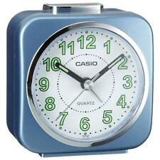 Casio TQ143/2 Neo Display Luminous Coated Alarm Clock with Light & Snooze - Blue