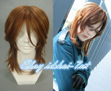 Layered Brown Seed Lockon Stratos Cosplay Wig