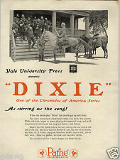 1924 PAPER AD Civil War Movie Dixie General US Grant Robert E Lee Into The Net