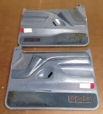 92-96 FORD BRONCO F150 97 F250 F350 PAIR OF POWER DOOR PANELS OEM BLUE RARE