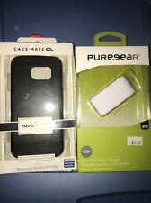 Case Mate Tough Stand Case for Samsung Galaxy S6 Edge Black, Pure gear Adapter