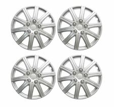 "RENAULT CLIO 1998 ONWARDS  14"" Wheel Trims Covers + Valve Caps & Ties Silver"