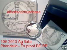 10 euro Italia 2013 argento Proof BE PIRANDELLO Italie Italy Italien 1934 Nobel