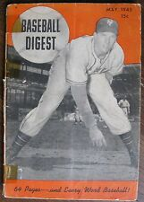 May 1945 Baseball Digest, Vol. 4 No. 4, 64-page small magazine, many articles