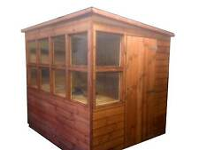 POTTING SHED 8x6 PENT ROOF (WOODEN SHED) (GARDEN SHED) (WORKSHOP) (GREEN HOUSE)