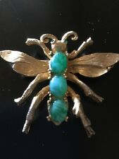 Vintage Signed Jeanne Bumblebee Bee Insect Animal Goldtone Brooch Pin