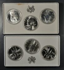 1983 & 1984 OLYMPICS SILVER DOLLARS COLLECTOR SETS P/D/S (6 COINS) W/ BOX & COA