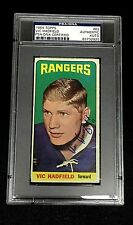 VIC HADFIELD SIGNED TOPPS 1964 TALL BOYS RANGERS CARD #62 PSA/DNA 83732920 Auto