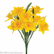 Artificial silk Daffodils bunch 14 stems yellow 40cm Spring flowers
