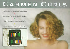 12 x Carmen Curlers/Rollers In Travel Pouch Assorted Colours 23 mm & 20 mm
