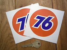 "UNION 76 Race Car Stickers 4"" Pair Gas Petrol Fuel Pump VW Camper Beete Hot Rod"