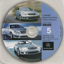 2008 Update Mercedes CD Base Navigation Map #5 Cover MI + Partial WI IL IN OH