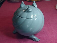 "Chinese Treasure Product  8"" x 7"" COVERED EROTIC JAR  Powder Blue"