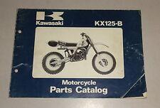 Teilekatalog / Ersatzteilliste / Parts List Kawasaki KX 125-B Stand 10/1981