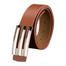 Men Women Automatic Buckle Leather Waist Strap Belts Buckle Belt Free Shipping