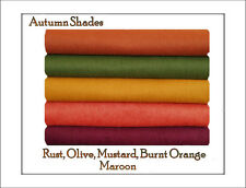 ECO Friendly WOOL FELT  Fabric* AUTUMN SHADES * 10 squares -30cm x 25cm