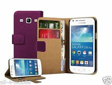 Wallet PURPLE Leather Case Cover Pouch for Samsung Galaxy Core Plus GT-G3500