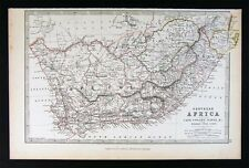 1883 Johnston Map South Africa Cape Colony Town Natal Zululand Orange Free State