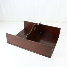 Antique Mahogany Butler's Tray, Linen? Server English 19th Century Cutlery Glass