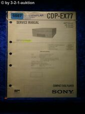 Sony Service Manual CDP EX77 CD Player (#6087)