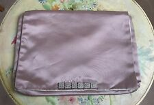 Vintage Christian Dior New York Lavender Lingerie Travel Bag Rhinestones Silver