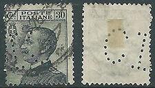 1925 REGNO USATO EFFIGIE 30 CENT PERFIN CI - S185