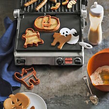 Williams-Sonoma Silicone Halloween Pancake Mold-Cat Ghost Pumpkin Jack O Lantern