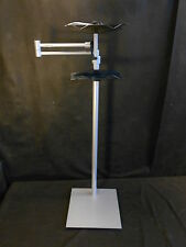Lecco 1001 - Book Holder Floor Stand w/Wheels - Silver