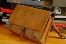 RARE WWII SWISS MILITARY ARMY Leather Document Tool Ammo Case Bag Pouch Mail