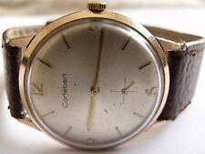 VERY RARE-Genuin-CORTEBERT-GOLD PLATED 20 MIKRONS-Swiss men,s wrist watch