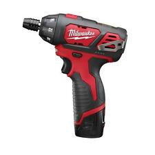 Milwaukee M12 12-Volt Lithium Li-Ion 1/4 in. Hex Cordless Screw Driver Drill Kit