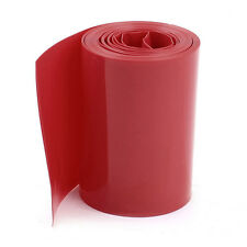 2M 50mm Width PVC Heat Shrink Wrap Tube Red for 2 x 18650 Battery Y1F6